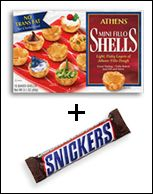 Fillo + Snickers and bake - 2 shells = 83 calories - Hungry Girl