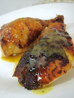 BBQ Chicken with Honey Mustard BBQ sauce!