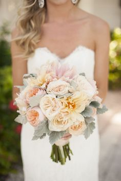 Ivory, Pink & Green Clearwater Beach Wedding - http://fabyoubliss.com