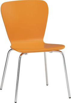 Felix Orange Side Chair in Dining, Kitchen Chairs | Crate and Barrel