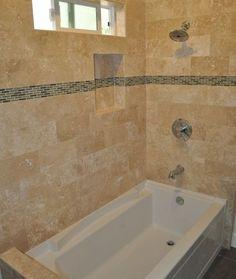 16 x 16 shower tile   Atlanta Shower Remodel Travertine Shower ...