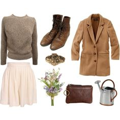 """The Florist"" by foxtailandfern on Polyvore. Love this: reminds me of Meg Ryan's wardrobe in ""You've Got Mail."""