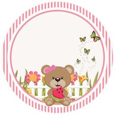 Kit Digital Birthday Enchanted Garden for Pink and Brown Print - Invitations Digital Simple Teddy Bear Party, Teddy Bear Cartoon, Cool Birthday Cards, Mom Birthday Gift, Box Frame Art, Balloon Pictures, Birthday Wishes For Boyfriend, Best Friend Gifts, Baby Boy Shower