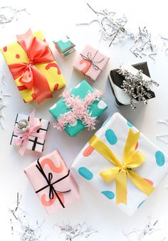 Give your gifts a makeover with hand-painted wrapping paper.