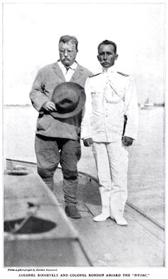 """Roosevelt Rondon Expedition To Brazil 1913-1914 Colonel Roosevelt and Colonel Rondon aboard the """"NYOAC"""". Greatest Presidents, American Presidents, Us Presidents, Roosevelt Family, Theodore Roosevelt, Us History, American History, Cinema Tv, Rough Riders"""