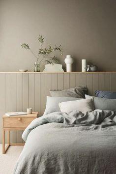 Bedroom Wall Colors, Bedroom Green, Home Bedroom, Design Bedroom, Bedroom Interiors, Zen Bedroom Decor, Bedroom Lighting, Bedroom Wall Designs, Ikea Bedroom