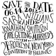 save the date handwritten