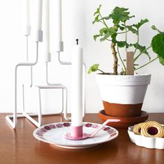 Ljushållare för assiett, rosa DIY
