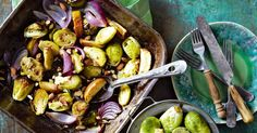 Roasting brussels sprouts gives amazing caramelisation and flavour.