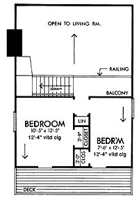 Home Plans HOMEPW04207 - 992 Square Feet, 3 Bedroom 1 Bathroom Shed Home with