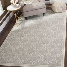 Shop for Safavieh Indoor/ Outdoor Amherst Light Grey/ Ivory Rug (10' x 14'). Get free shipping at Overstock.com - Your Online Home Decor Outlet Store! Get 5�0in rewards with Club O!