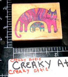 Laurel Burch Feline Family Cat Baby Rubber Stamp All Night Media Retired | eBay