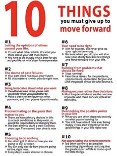 10 things you have to give up to move forward #motivational #inspirational #lifestyle #success
