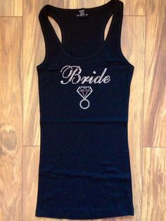 Rhinestone Bride tank w/ Bling Ring perfect for bachelorette, Brides and Hen Parties by SassySashSashes, $23.95