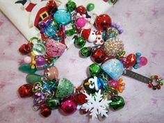 Christmas Bracelet by beadiebracelet on Etsy Cute Bracelets, Charm Bracelets, Beaded Bracelets, Necklaces, Gum Drops, Holiday Jewelry, Ornament Wreath, Reindeer, Merry Christmas