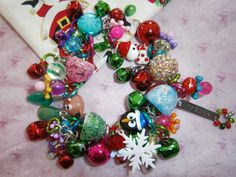 Christmas Bracelet by beadiebracelet on Etsy