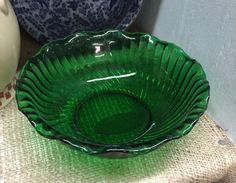 A personal favorite from my Etsy shop https://www.etsy.com/listing/256378679/ruffled-glass-bowl-vintage-glass-bowl