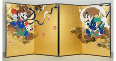 山本太郎の新作「マリオ&ルイ―ジ図屏風」/展覧会「琳派400年記念 琳派からの道 神坂雪佳と山本太郎の仕事」