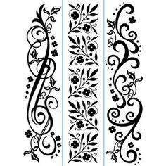 Darice® Embossing Essentials 1.5 x 5.75 inch Embossing Folder Border 3 pack - Flourish