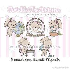 mixed planner clipart set Kawaii Bunny