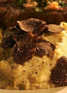 Potato purée with black winter truffle butter.