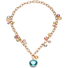 """Goshwara 18k Gold & Multicolored Gemstone """"Mischief"""" Necklace"""