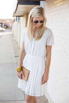 Simple pleats and lace