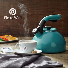 PIN TO WIN: Circulon® Morning Bird Teakettle, Capri Turquoise {Giveaway Ends 9/28/14}