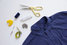 How to Turn a Men's Shirt into a One Shoulder Wrap Top