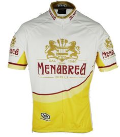 Menabrea Cycling Jersey celebrates a classic Italian beer.  Menabrea   ProCycleGear Bicycle Jerseys f07fd9147