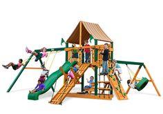 Frontier  Cedar Swing Sets by Gorilla Playsets #diy #backyard #fitness