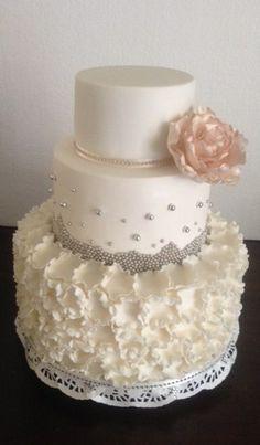 Ruffle wedding cake created by Villa Chateau
