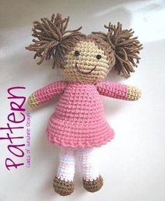 crochet girl doll pattern