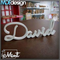 Nome David Letra: Mint Tamanho 12 Acabamento: Branco - http://ift.tt/29XdScI