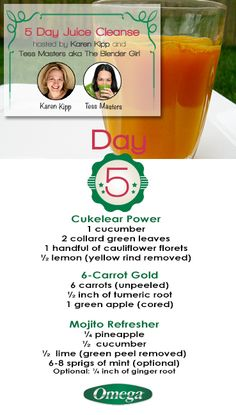 Day 5 of the 5 Day #Juice #Cleanse. Be #Healthy & have FUN this #Holiday #Season with Omega Juicers!