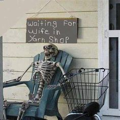 I think this should be outside the Yarn Barn in Lawrence it the Wicked Stitch in Waumego! Lol!!!