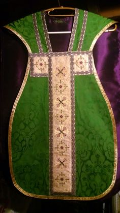 New vestment to go with green cope I made last year