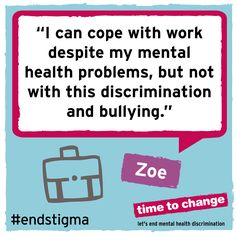I can stand my mental illnesses at work, but not the discrimination Mental Health Campaigns, Mental Health Stigma, Mental Health Disorders, Mental Health Problems, Mental Illness, Diversity Quotes, Workplace Bullying, Depression Remedies, Feeling Isolated