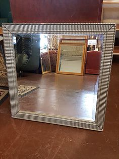 A square, ornate silver framed mirror from the Renaissance Rogers x # M 02183 RRC Silver Framed Mirror, Places To Go, Bedroom, Home Decor, Decoration Home, Room Decor, Interior Design, Home Interiors, Dorm Room