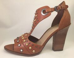 Marc Fisher Women's Leather Strap Sandal Wedge Summer Heels Shoes Size 10 #MarcFisher #Strappy