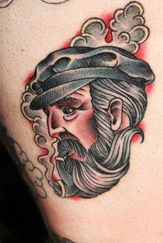 Smoking Captain Nautical tattoo | Best Tattoo Ideas Gallery