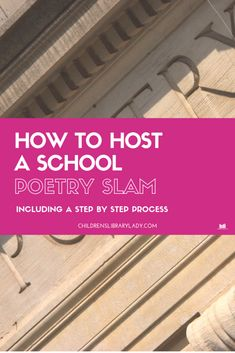 How to Host a School Poetry Slam – - Children's Library Lady War Quotes, Book Quotes, Picture Quotes, Picture Books, Poetry Books For Kids, Growth Mindset Book, Wordless Book, Good Communication Skills, Slam Poetry