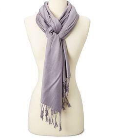 Look at this #zulilyfind! Silver Cashmere-Silk Blend Scarf #zulilyfinds
