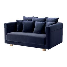 IKEA STOCKHOLM 2017 Two-seat sofa Sandbacka dark blue Velvet is a soft, luxurious fabric that is resistant to abrasion and easy to clean using the soft...