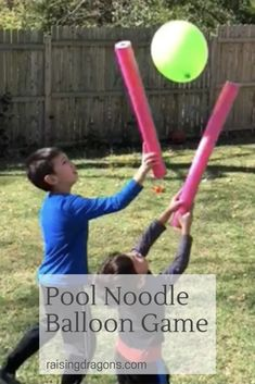 Noodle Balloon Game * ages Pool Noodle Balloon Game * ages 1 ⋆ Raising Dragons - fun outdoor game for kids and adults.Pool Noodle Balloon Game * ages 1 ⋆ Raising Dragons - fun outdoor game for kids and adults. Noodles Games, Pool Noodle Games, Pool Noodles, Pool Noodle Crafts, Camping Games For Adults, Games For Toddlers, Camping Activities, Balloon Games For Kids, Games For Elderly
