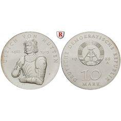 DDR, 10 Mark 1988, von Hutten, f.st, J. 1622: 10 Mark 1988. von Hutten. J. 1622; fast stempelfrisch 75,00€ #coins #numismatics