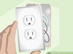 How to Install an Outdoor Outlet (with Pictures) - wikiHow Outdoor Outlet, Local Hardware Store, Electrical Wiring, Plugs, Pictures, Photos, Corks, Grimm