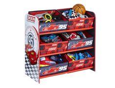Spielzeugregal Bücherregal Cars Lightning McQueen Kinderregal Staukörbe Kiste