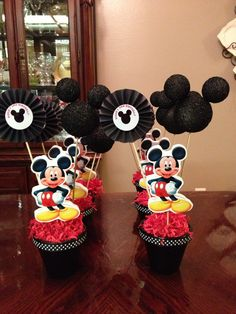 Mickey Mouse Birthday Centerpieces for my son!