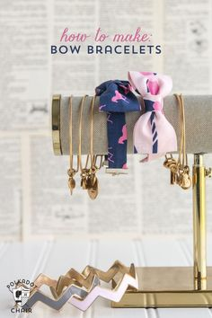 Learn how to make a bow tie bracelet with this bow tie bracelet diy sewing pattern, DIY bow bracelet tutorial, free pattern bowtie bracelet Make A Bow Tie, Diy Bow, How To Make Bows, Sewing Patterns Free, Free Sewing, Free Pattern, Polka Dot Chair, Bow Bracelet, Bracelet Tutorial